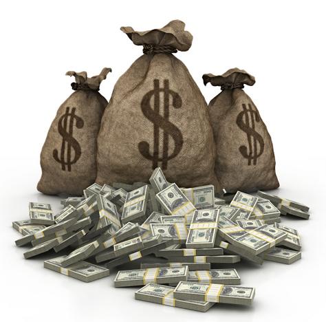 Cash Bag Png Money Bag With Cash in Front
