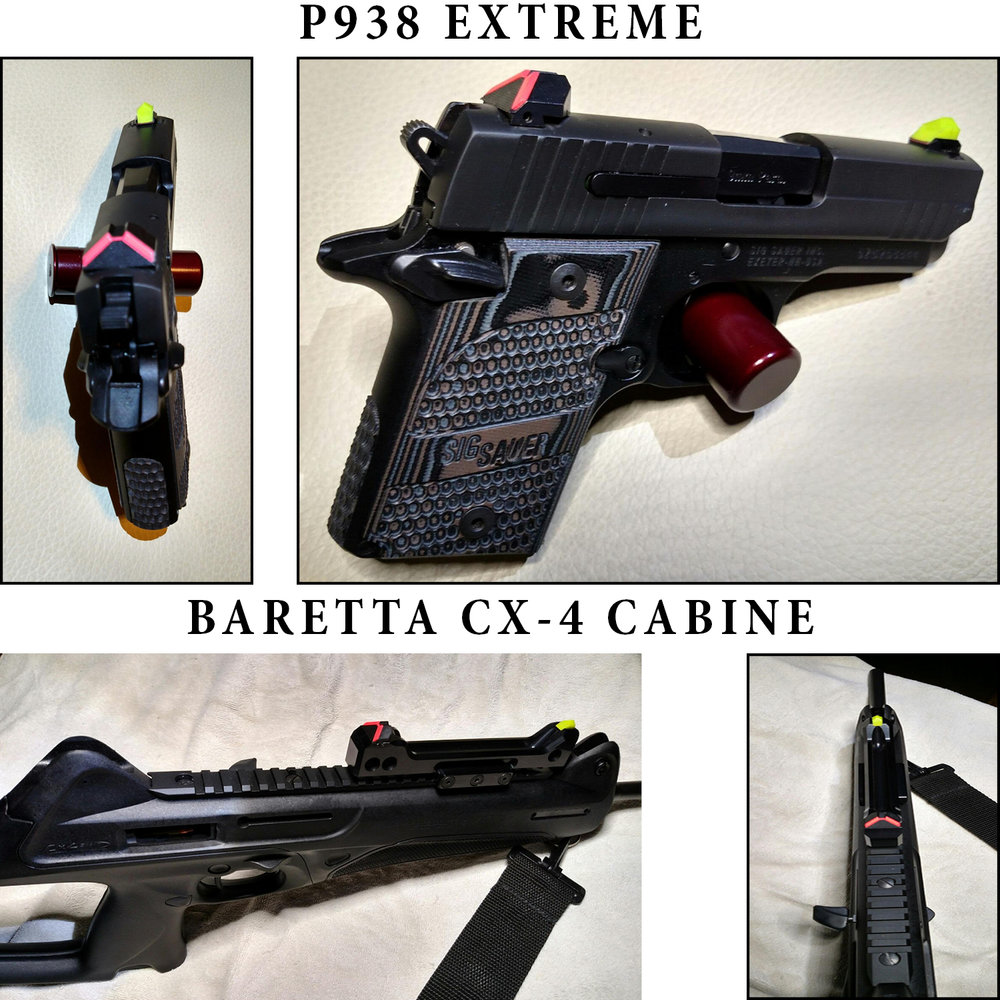 Customers P938 Extreme, and Beretta CX-4 Carbine with the ATPS system...