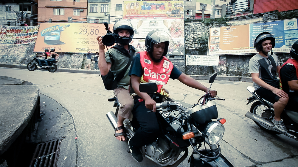 Filming in Rocinha Favella - Brazil