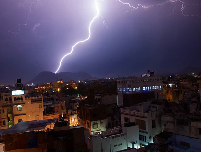 Lighting strikes in Udaipur, 2015