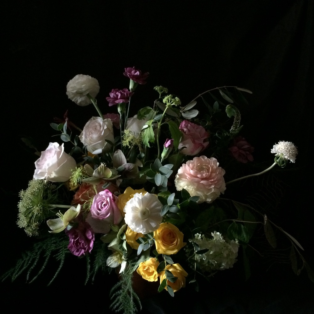 floral fetish free style spring chalice arrangement