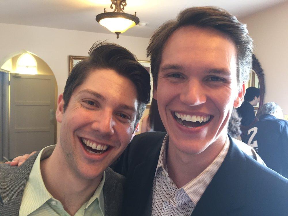 David C & Chris Hunter's toothy smiles.JPG