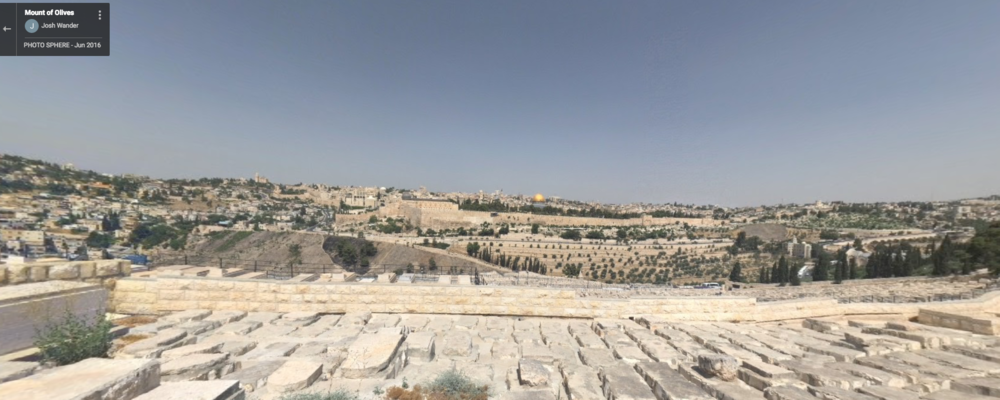 One of the most iconic views in Jerusalem, however, its distance from the city may make everything appear too small. We believe the location may also be challenging to control since it has large a tourist presence. (Click the image to view the online panorama). Click here to view this point on a map including surrounding points of interest.