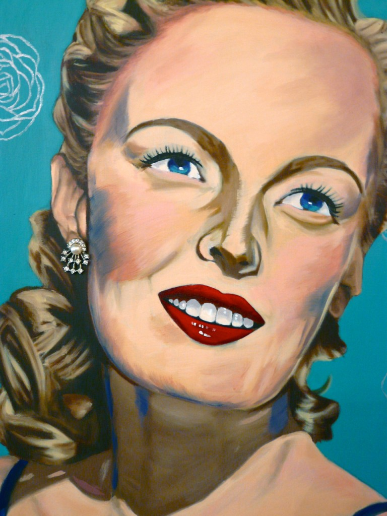 June Haver painting by Taylor Browning at Urban Betty in Austin, Texas