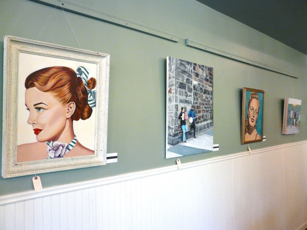 Taylor Browning paintings at Urban Betty in Austin, Texas