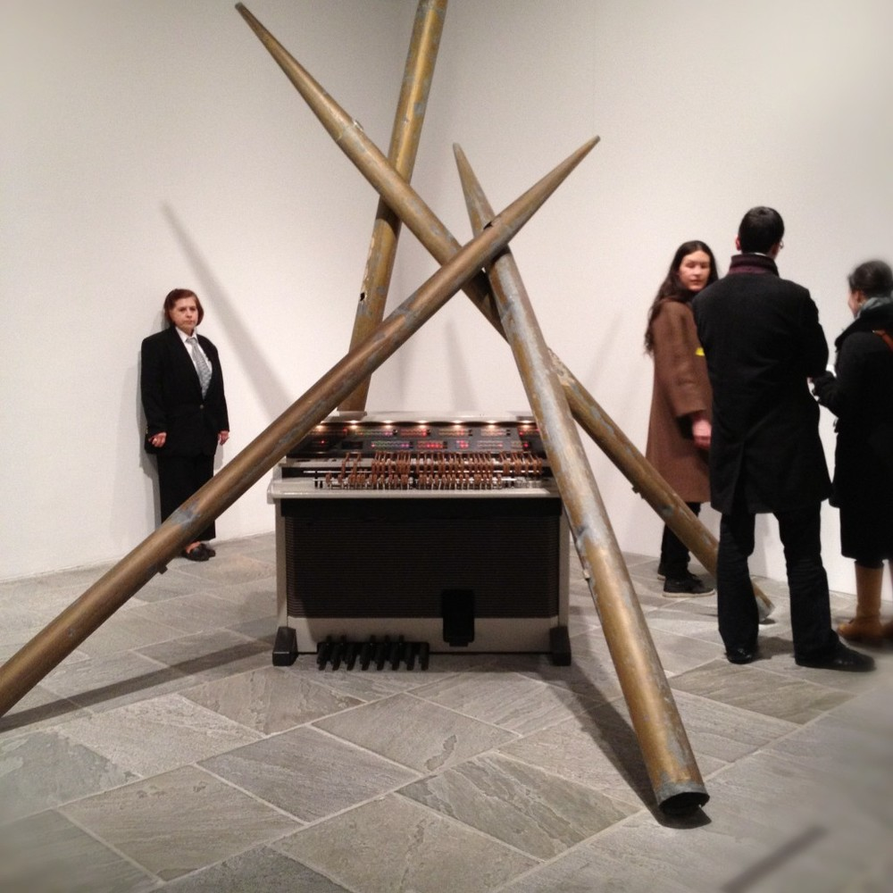 Pipe Organ by Lutz Bacher at the Whitney Biennial 2012