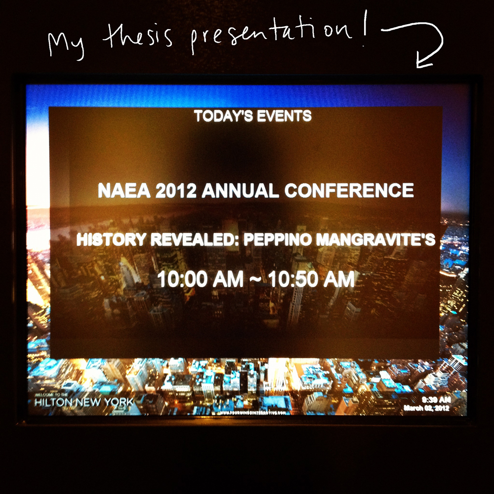Thesis presentation at NAEA 2012