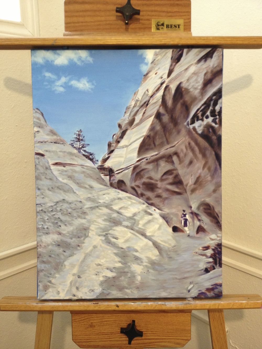 tent rocks in-process painting by Taylor Browning
