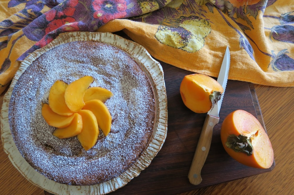 Carmen's delicious Persimmon & Walnut Cake, The Heirloom Chronicles