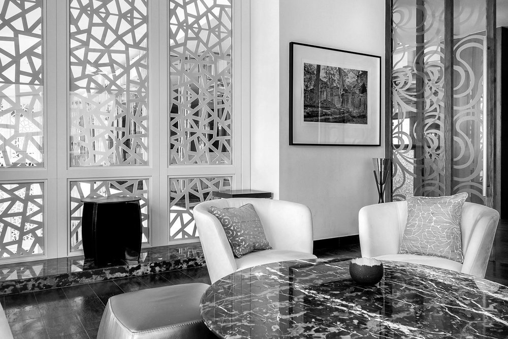 "Print from the ""Spirit"" collection at the Fairmont hotel in Dubai."