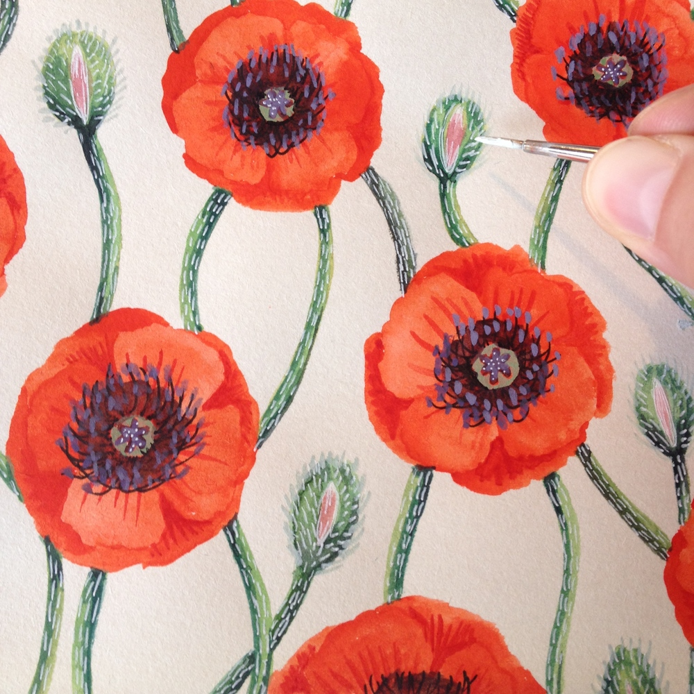 The Making Of A Poppy Pattern Kirsten Sevig