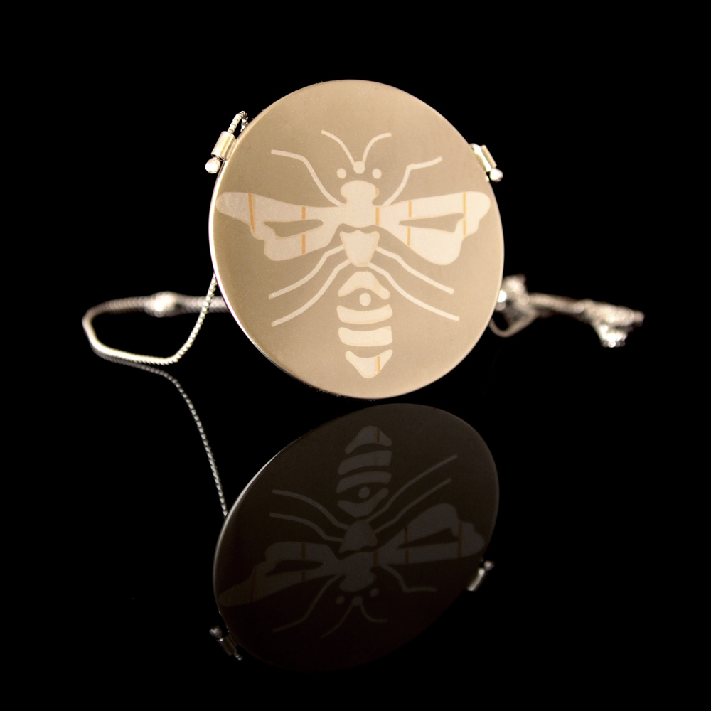 Finished Bee pendant from the Insect Collection