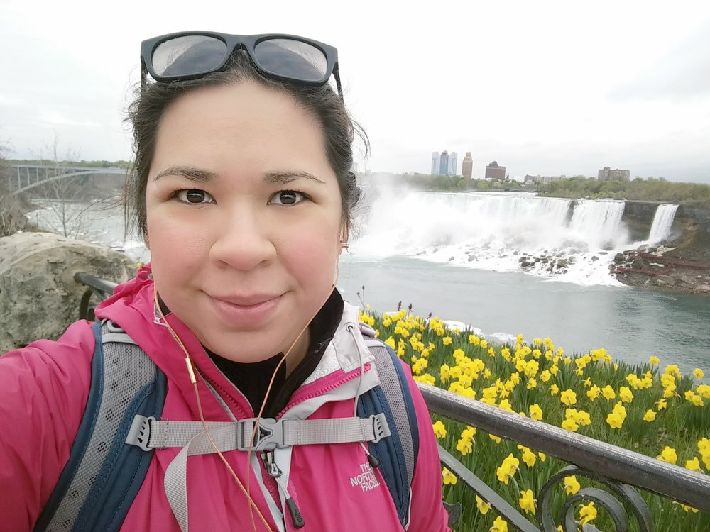That's me a couple years ago at Niagara Falls, on a round- about solo roadtrip from DC, to Toronto, & back down to San Antonio.