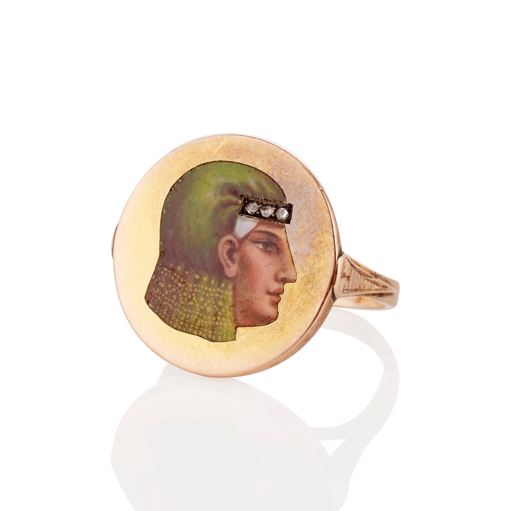 The Egyptian Revival Rose Cut Ring