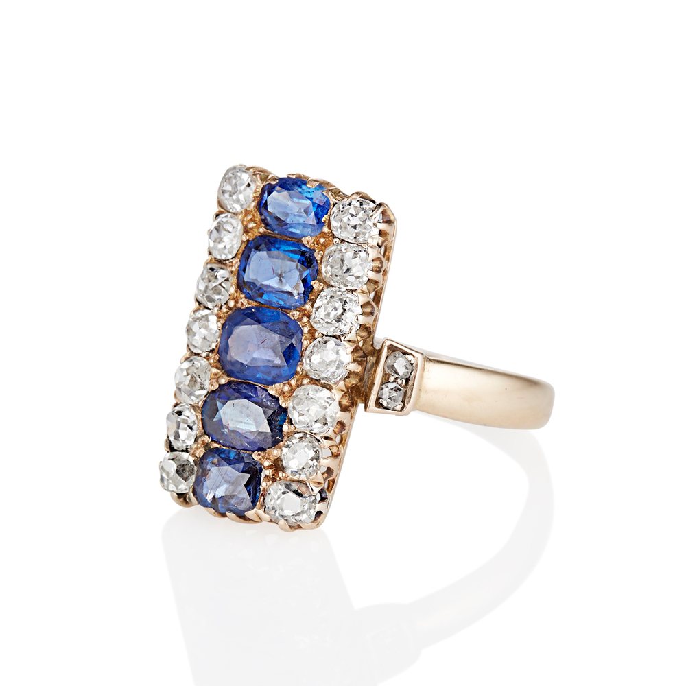 The Victorian Sapphire & Diamond Ring