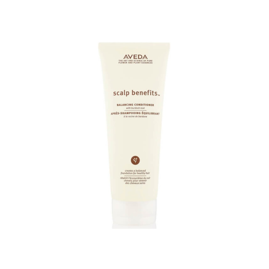 Aveda Scalp Benefits Conditioner $31.50 (200ml)   Nourishes and balances the hair and scalp so all hair types look and feel healthy. With a nurturing blend including burdock root, echinacea and sage.  Aveda's own pure-fume aroma with vetiver, rosemary, cinnamon and other pure flower and plant essences.   (purchase in store only)