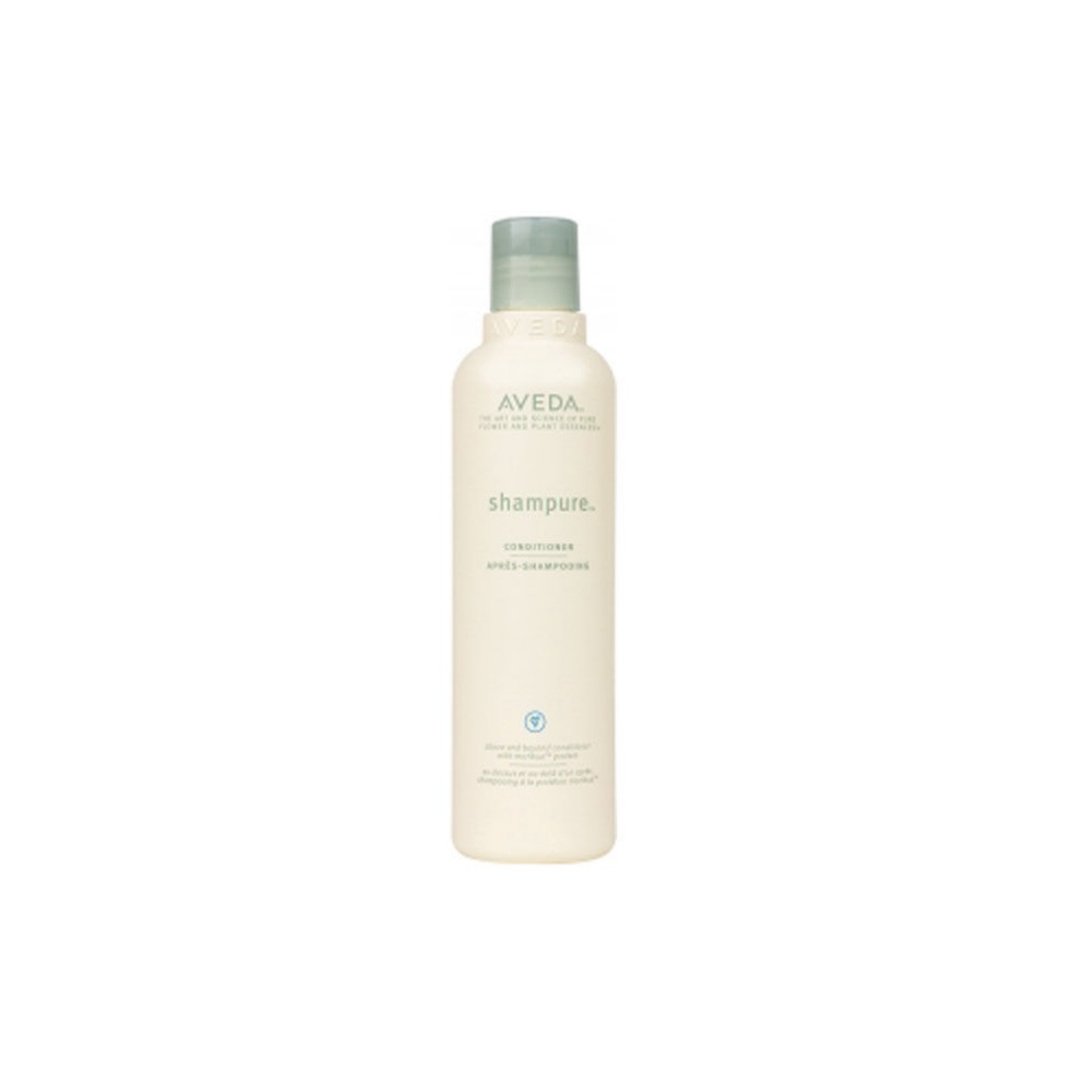Aveda Shampure Conditioner $ (250ml)   Instantly detangles, adds shine and provides weightless, long-lasting nourishment while infusing hair with our signature calming aroma with 25 pure flower and plant essences.  Calming shampure™ aroma with 25 pure flower and plant essences - including certified organic lavender, petitgrain and ylang ylang.   (purchase in store only)