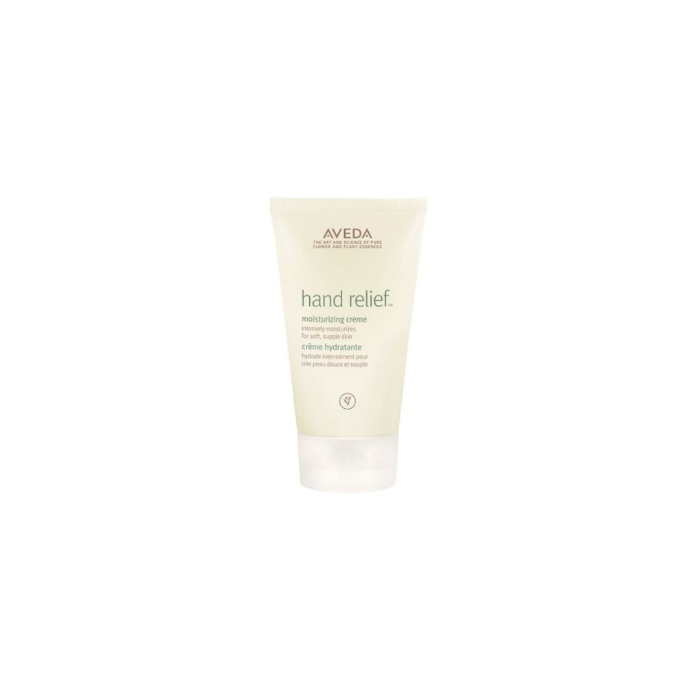 Aveda Hand Relief $ 125ml   Rich hand creme intensely moisturizes dry hands leaving them noticeably softer and smoother. Andiroba oil and other plant hydrators help infuse skin with nourishment for moisturized, soft hands.  Aveda's own pure-fume aroma with certified organic orange, lavandin, eucalyptus and other pure flower and plant essences.   (purchase in store only)