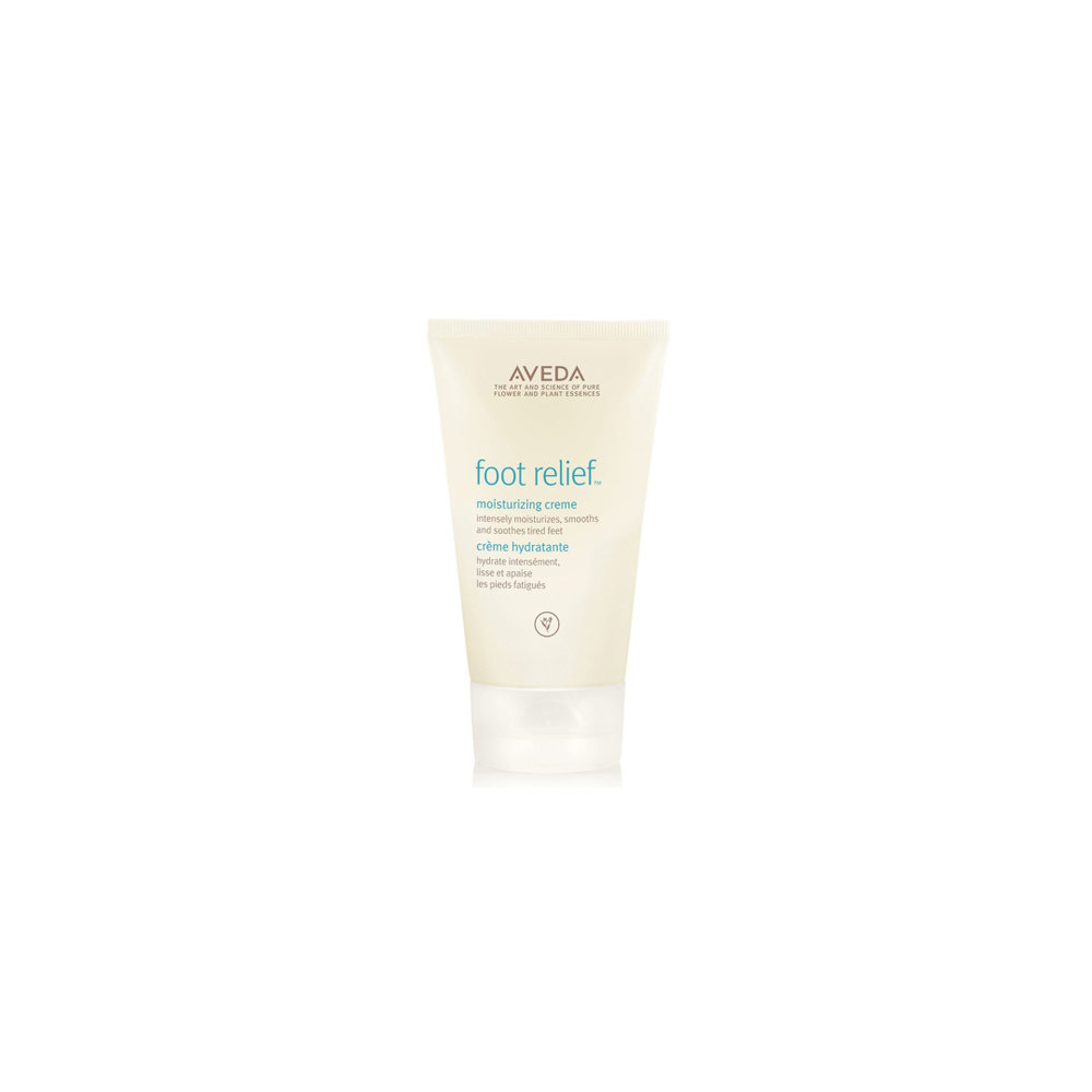 Aveda Foot Relief $ 125ml   Moisturizing foot creme with exfoliating fruit acids and jojoba and castor oils softens and smooths dry feet. While peppermint oil and tea tree oil cool and invigorate.  Aveda's own pure-fume™ aroma with certified organic peppermint, lavender, rosemary and other pure flower and plant essences.   (purchase in store only)