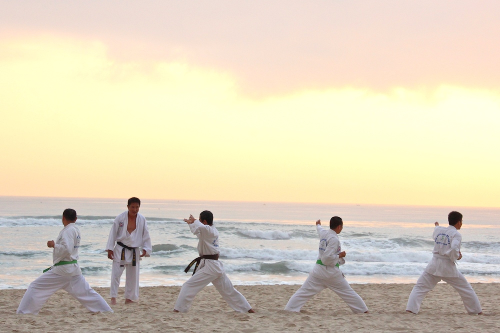 World Savvy 3/13, Security guards training on beach - Square Space