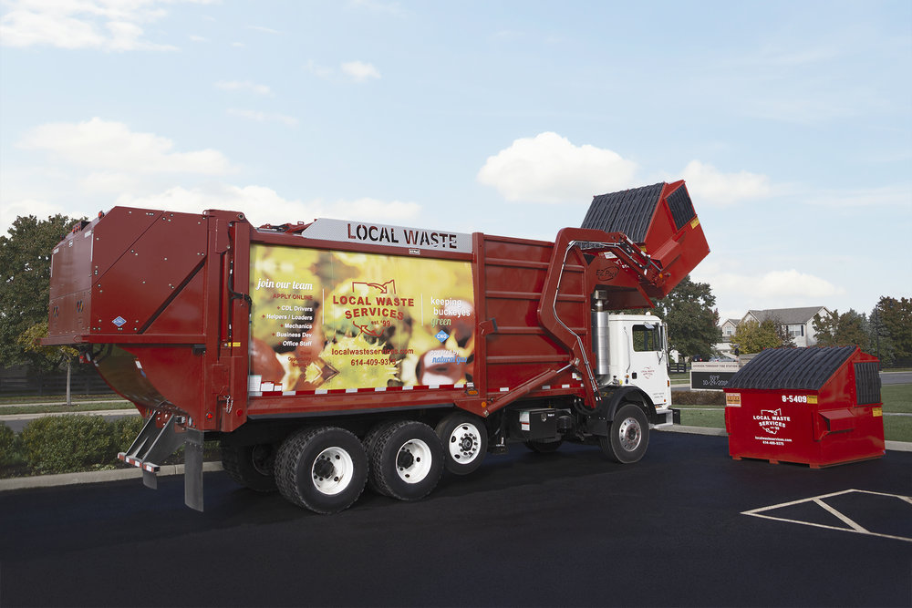 COMMERCIAL - Offering 2, 4, 6 and 8 yard front-load containers for solid waste, cardboard and co-mingle recycling materials.