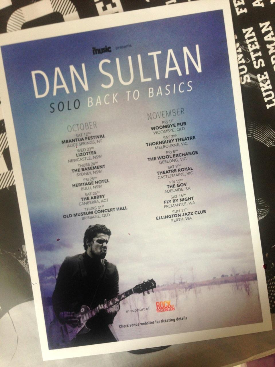 Dan Sultan Souvenir Posters