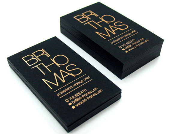 Foil Coating Business Cards