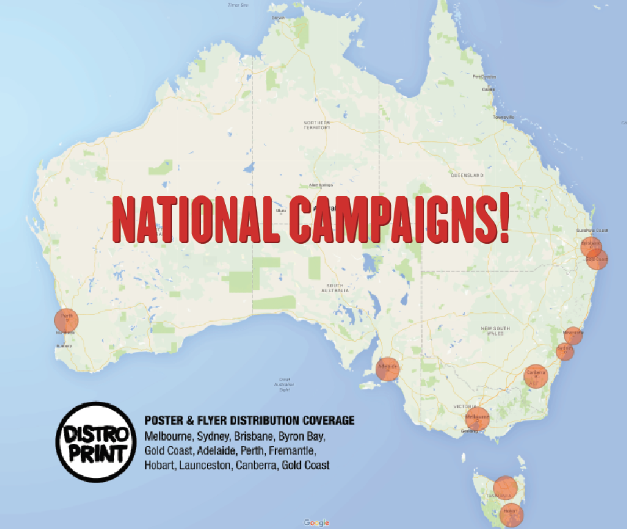 National Poster Distribution Network,  Full location list here