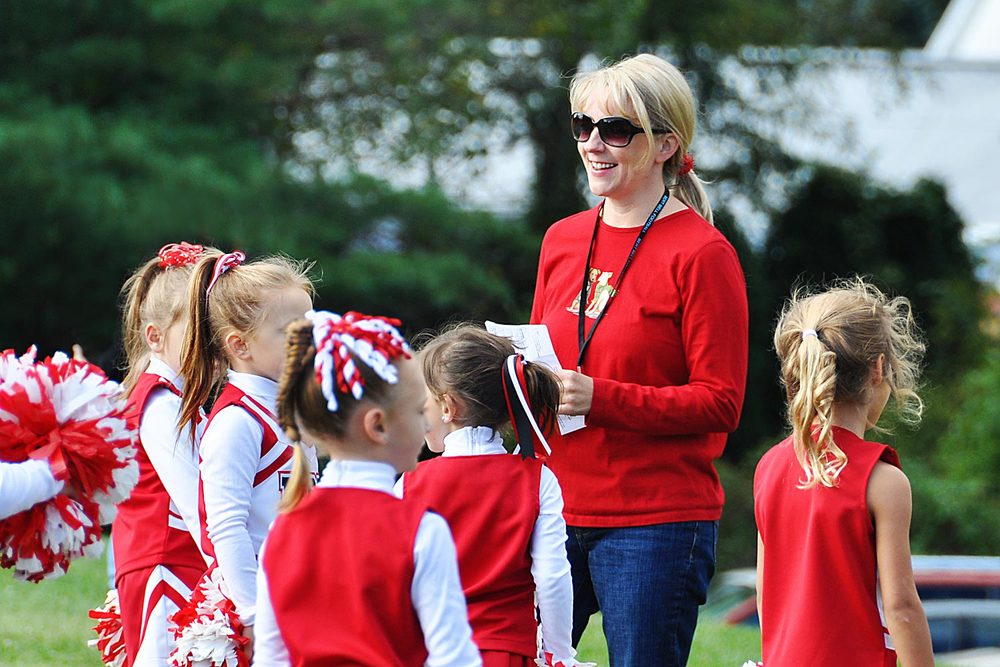Coach for Norchester Red Knights Flag Cheerleading Squad