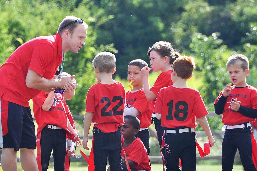 Coach for the Norchester Red Knights Flag Football Team