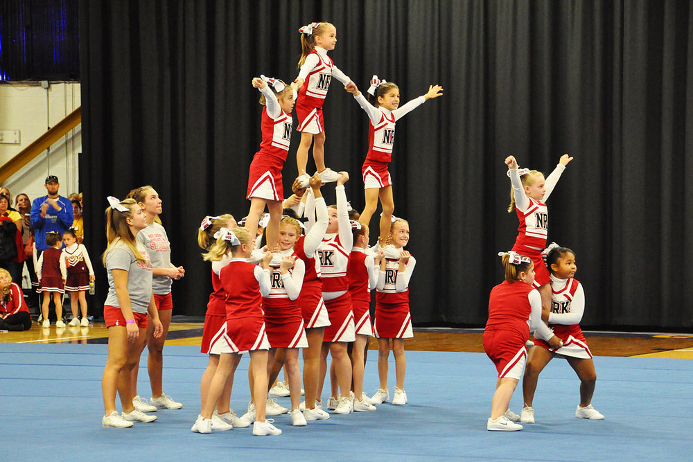 Norchester Red Knights 80 / 100 lb Cheerleading Squad at Bert Bell Cheer Competition