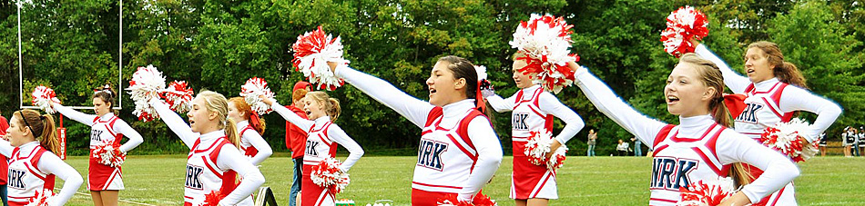 Norchester Red Knights youth cheerleaders