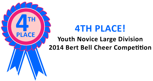 Norchester Red Knights Cheerleading won fourth place in the Youth Novice lARGE Division at the 2014 Bert Bell Cheer Competition!