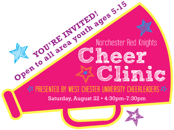 Norchester Red Knights Cheer Clinic, presented by West Chester University Cheerleaders