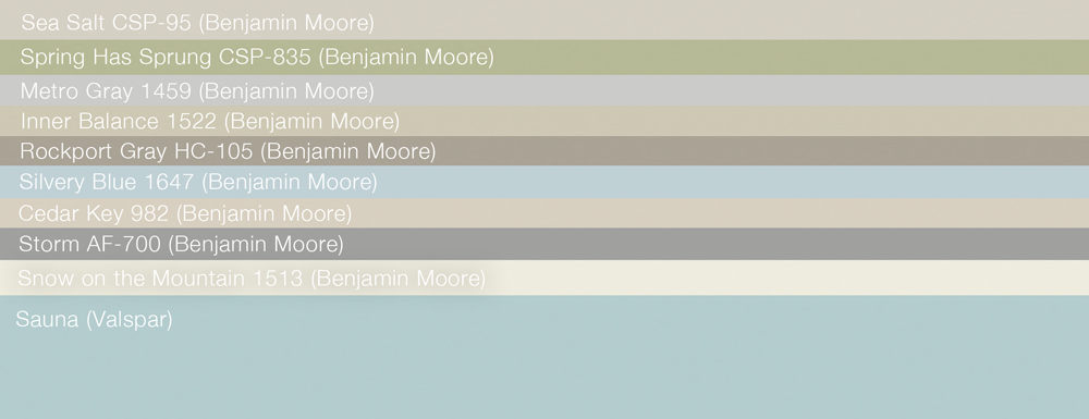 Check out these great Benjamin Moore Colors we painted!