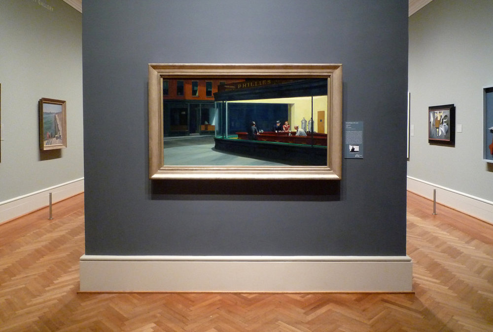 Edward hopper's iconic nighthawks at the art institute of chicago Image via flickr user steven zucker