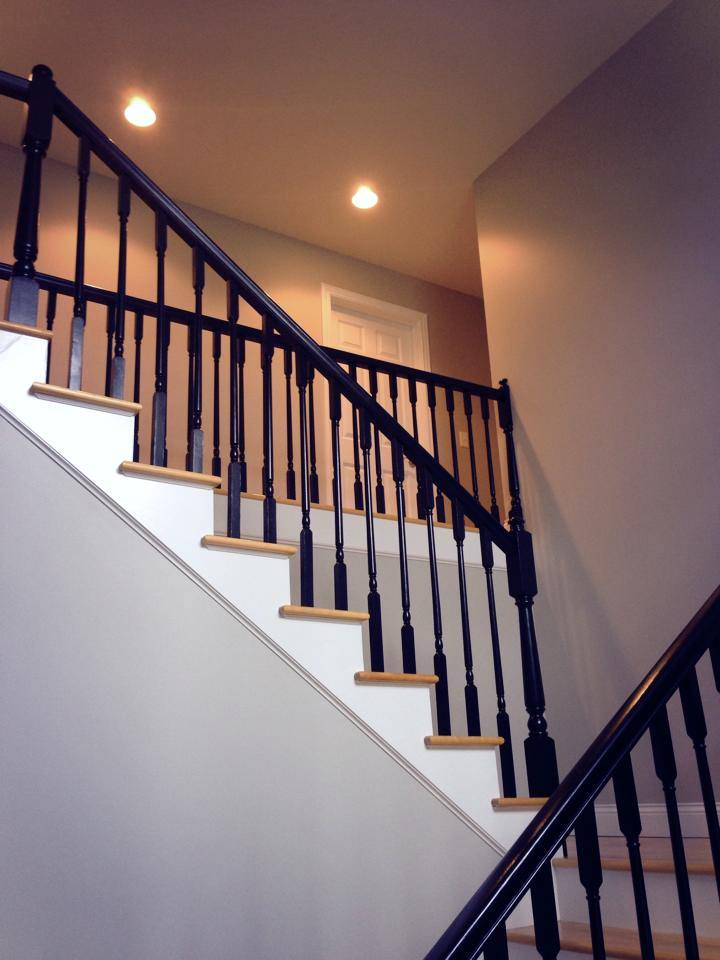 Paining stairs and halls