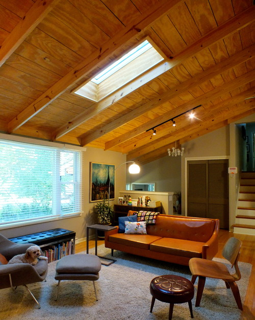 Midcentury living room by Bloomington interior designers & Decorators, Susan Yeley Interiors