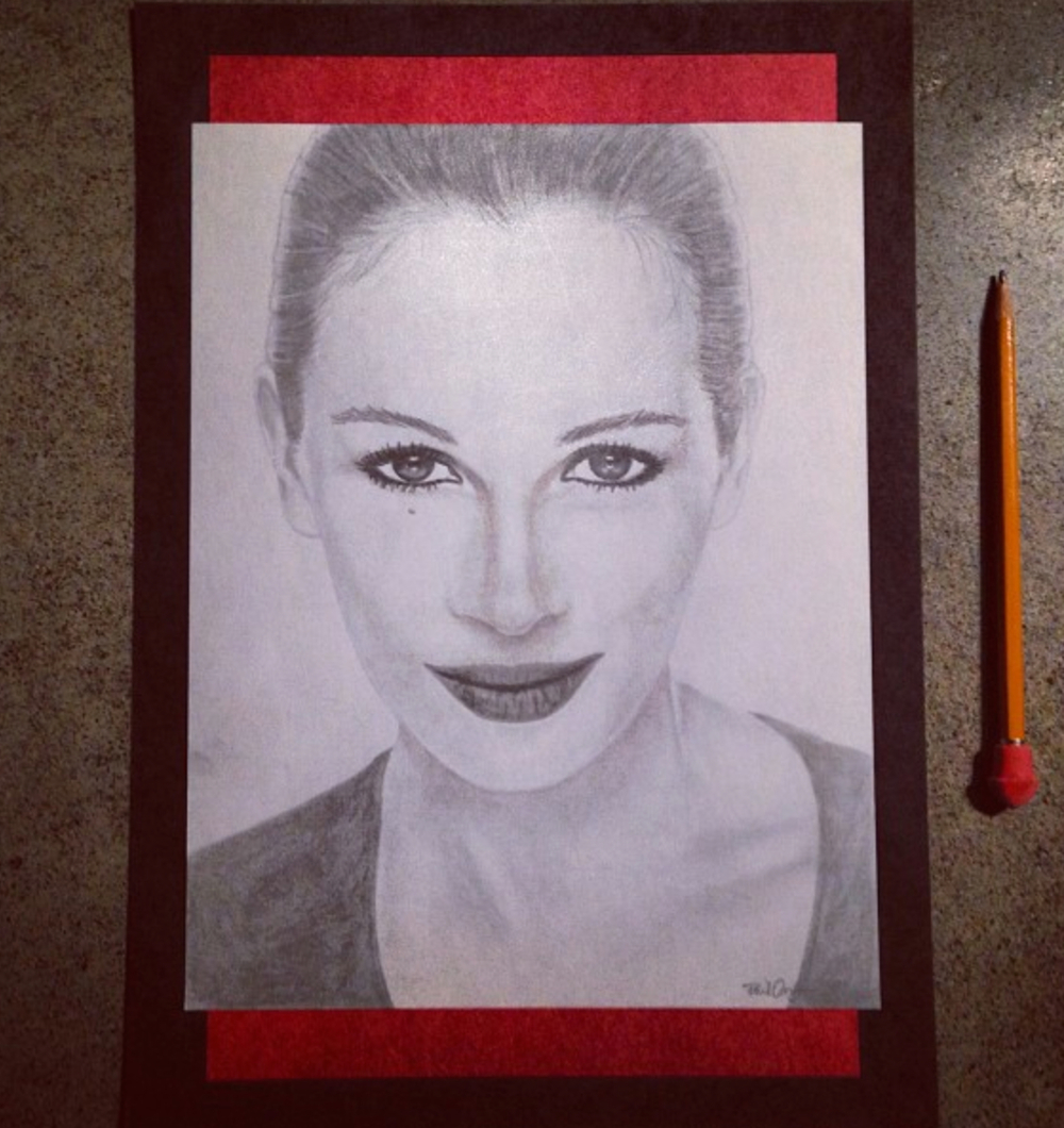 Julia Roberts, drawn in 2001