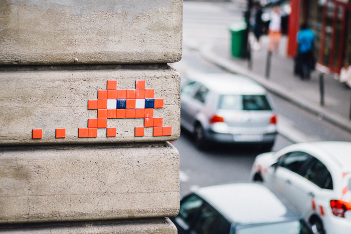 "If you have ever watched the extraordinary documentary ""Exit Through the Gift Shop"", you'll recognize Space Invader's street art. If you have not watched it, stop reading this and watch it on Netflix, Amazon Prime, or Hulu."