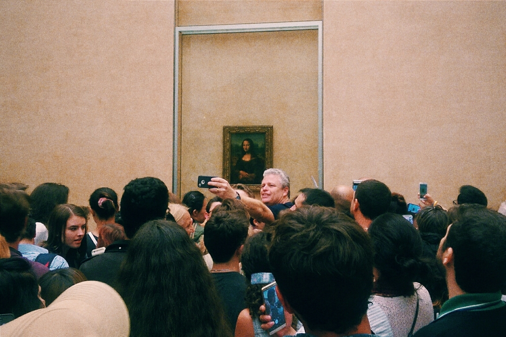 I am pretty sure that I was the only person in the whole museum who actually looked at the Mona Lisa and studied it.