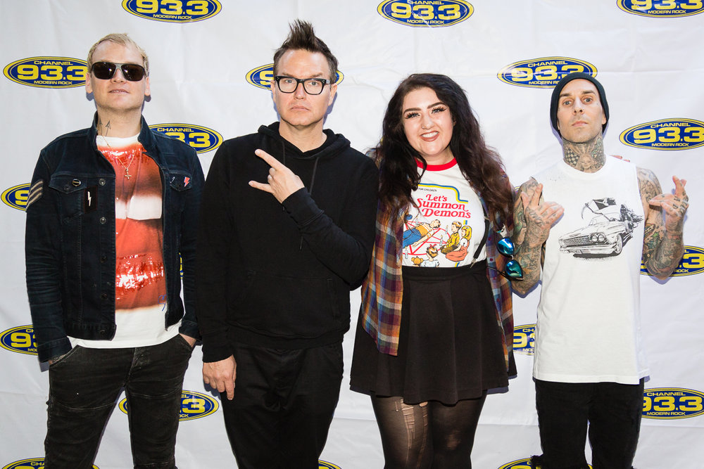Blink-182 with my wonderful assistant Paulina. When I asked her to help out, she had no idea that I was going to get her to meet the band.  She may have cried a couple of times and had a few awkward encounters with Mark.  Three to be exact.