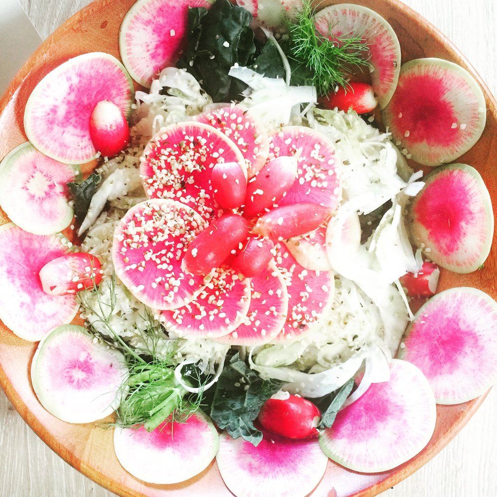 FENNEL KALE WATERMELON RADISH SALAD
