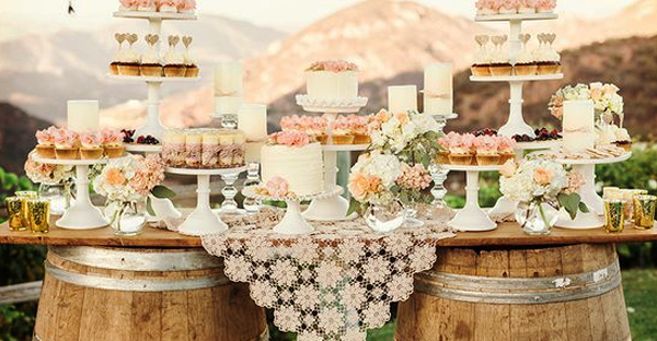 Viennese table of desserts