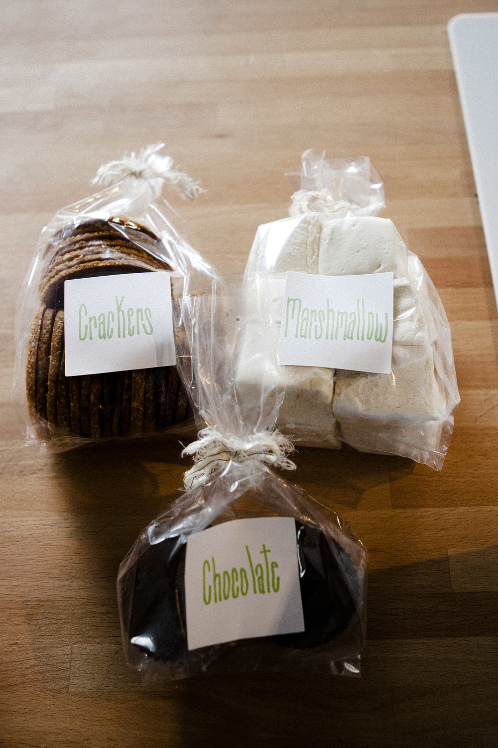 Gluten free, dairy free, soy free, soy free S'mores Kits by Feed Me Rachel Photo by Erin Grace Photography