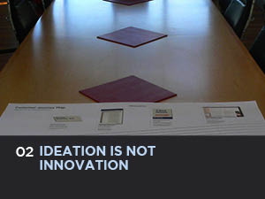 Creating ideas (also known as ideation) is not the same as innovating. Why?. Because true innovation creates real value,  bridging  the gap between nice to have and must have.