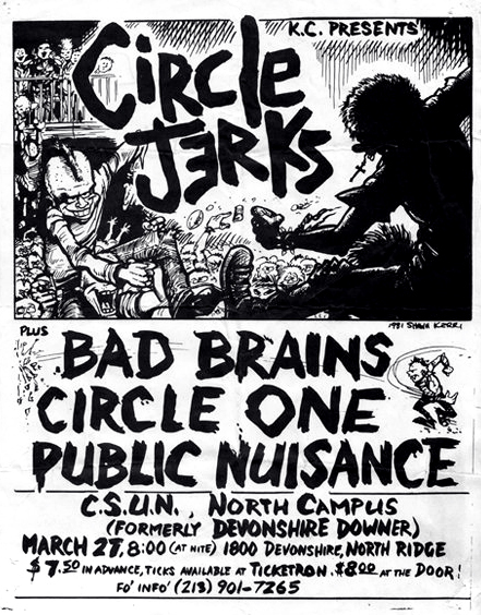 "Shawn Kerri flyer for the ""Circle Jerks"""