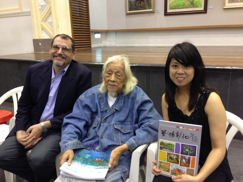 Ramon Santacana (one of the exhibiting artists), Su Beng and myself.