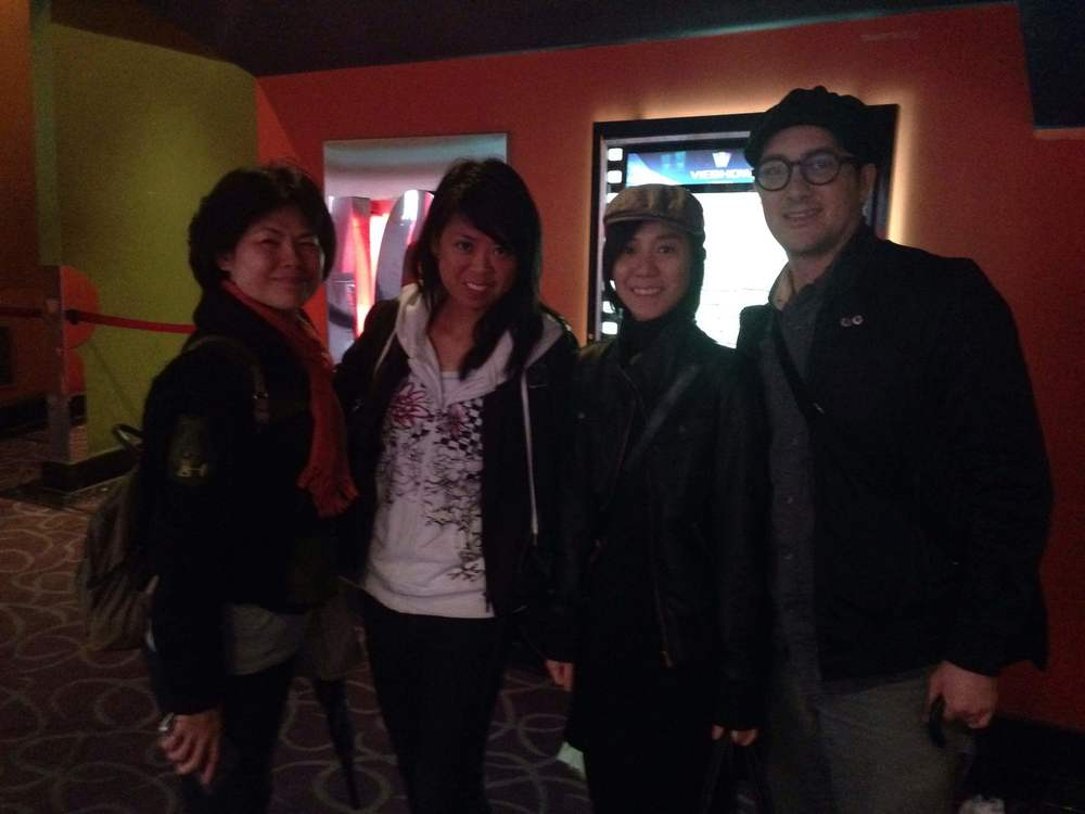 Bin Hong, Felicia Lin, Hanji and Andy after the last screening of Su Beng, The Revolutionist in Taipei (March 26, 2015)