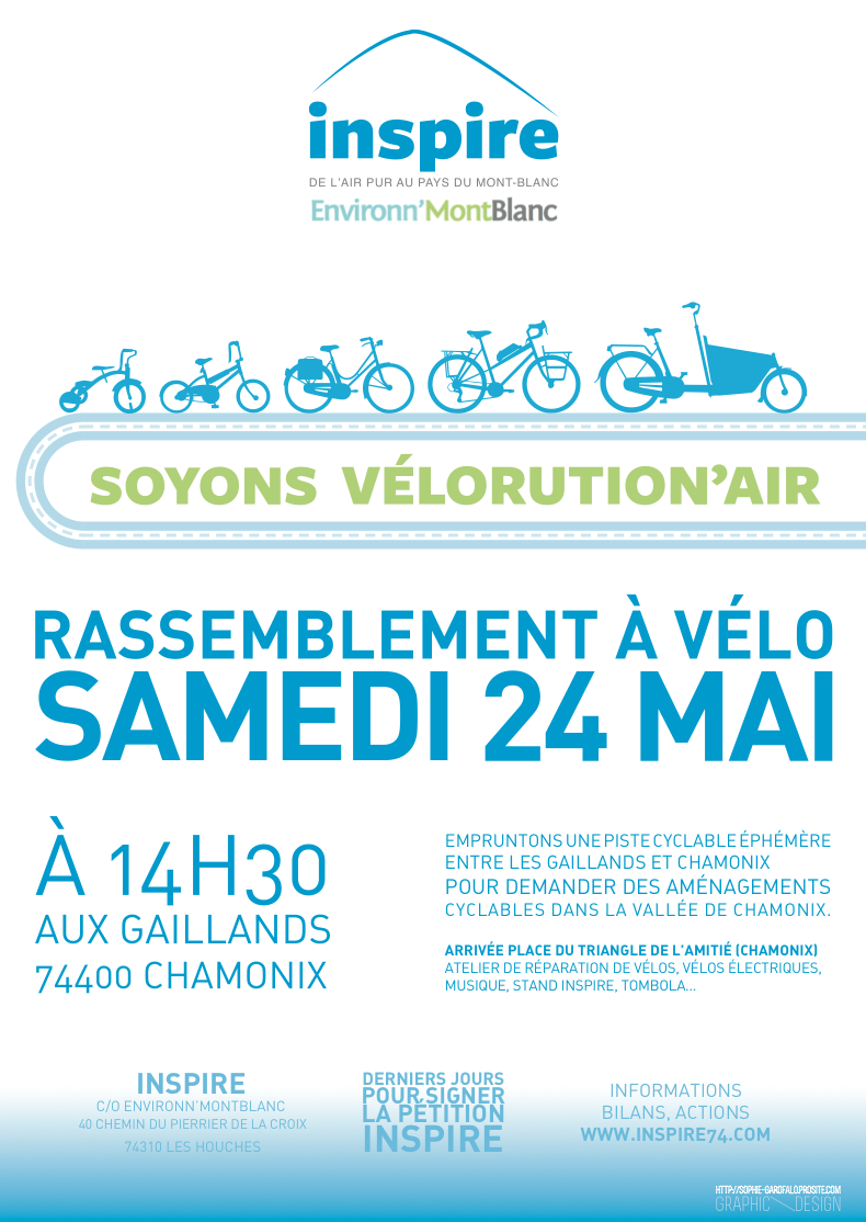 "[Vélorution'Air: play on word in French, sounds like ""revolutionary"", but with the word bike (vélo) and air, to include a reference to air quality. ""Vélorutions"" are monthly cycling rallies in large cities in France, aka ""critical mass"" bike rides in San Francisco]"